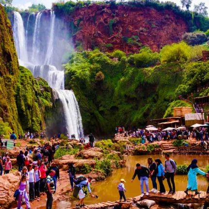 Marrakech to Ouzoud falls day trip, waterfall marrakech