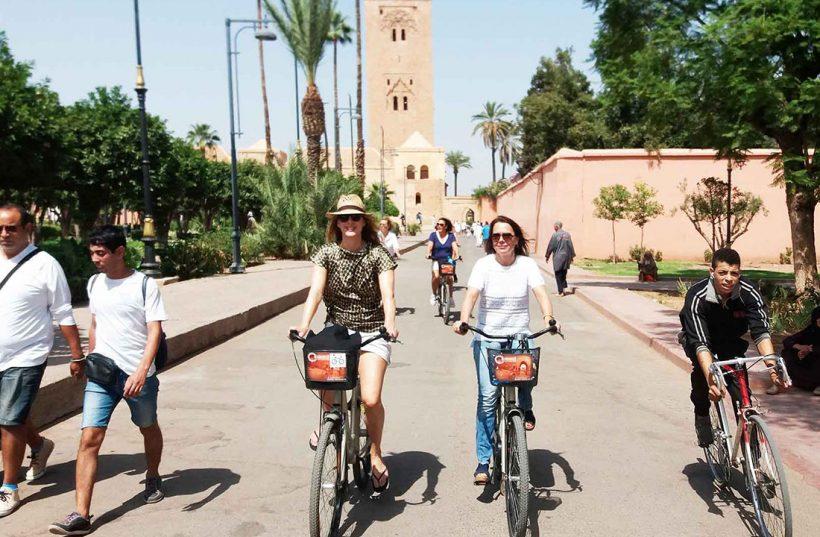 marrakech city tour bike